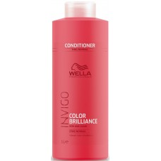 Kondicionáló finom haj/normál, festett - Vibrant Color Conditioner - Fine - Invigo Brilliance - Wella - 1000 ml